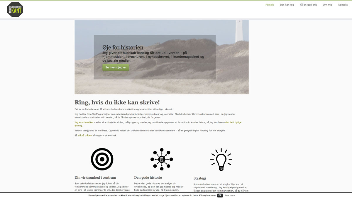 Kommunikation med kant hjemmeside - Stine Bo