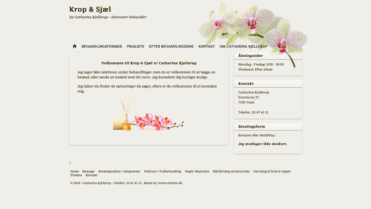 Krop og Sjæl Hjemmeside - Stine Bo