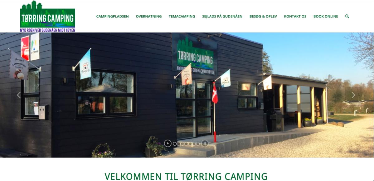 Tørring Camping hjemmeside - Stine Bo